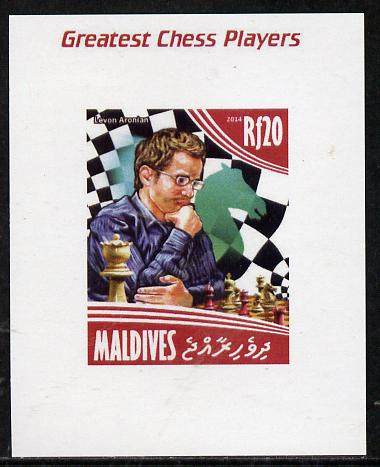 Maldive Islands 2014 Great Chess Players - Levon Arronian imperf s/sheet unmounted mint. Note this item is privately produced and is offered purely on its thematic appeal