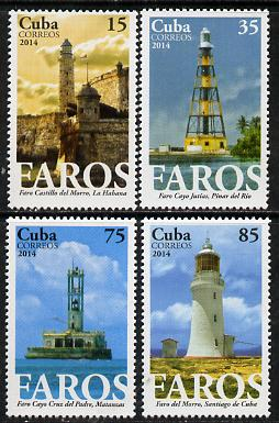 Cuba 2014 Lighthouses perf set of 4 unmounted mint