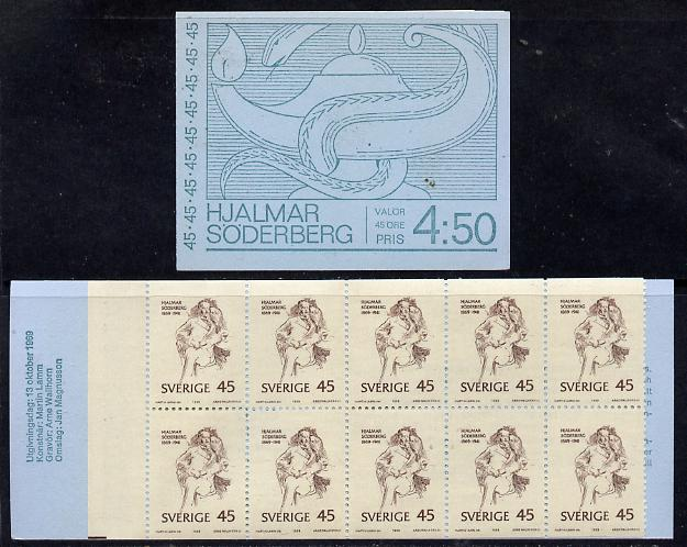 Booklet - Sweden 1969 Birth Centenary of Hjalmar Soderberg 4.50k booklet complete and fine, SG SB 240