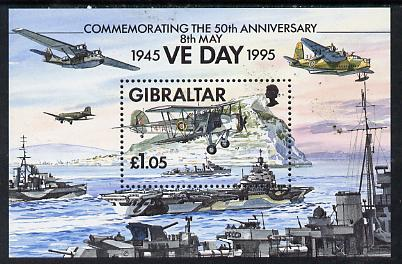 Gibraltar 1995  50th Anniversary of End of Second World War perf m/sheet unmounted mint, SG MS 744