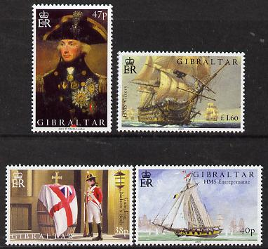 Gibraltar 2005 Bicentenary of the Battle of Trafalgar set of 4 unmounted mint, SG 1120-23