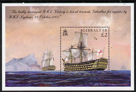 Gibraltar 2005 Bicentenary of the Battle of Trafalgar perf m/sheet unmounted mint, SG MS 1124
