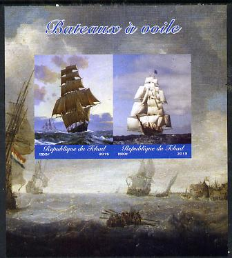 Chad 2015 Sailing Ships imperf sheetlet containing 2 values unmounted mint. Note this item is privately produced and is offered purely on its thematic appeal. .