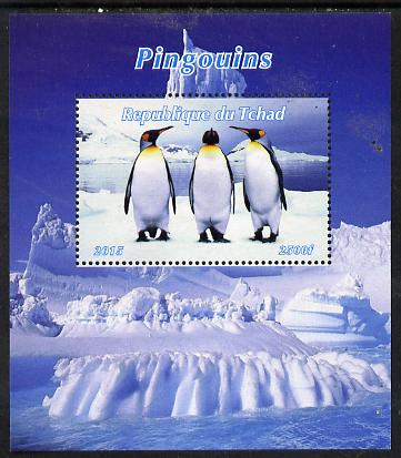 Chad 2015 Penguins perf deluxe sheet unmounted mint. Note this item is privately produced and is offered purely on its thematic appeal. .