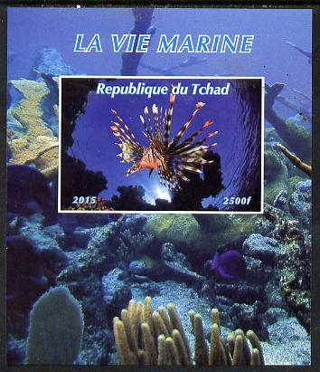 Chad 2015 Marine Life #1 imperf deluxe sheet unmounted mint. Note this item is privately produced and is offered purely on its thematic appeal. .