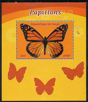 Congo 2015 Butterflies #3 perf deluxe sheet unmounted mint. Note this item is privately produced and is offered purely on its thematic appeal