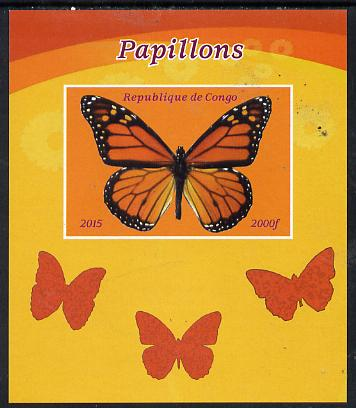 Congo 2015 Butterflies #3 imperf deluxe sheet unmounted mint. Note this item is privately produced and is offered purely on its thematic appeal