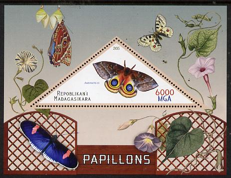 Madagascar 2015 Butterflies #2 perf deluxe sheet containing one triangular value unmounted mint