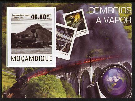 Mozambique 2015 Steam Trains #4 imperf deluxe sheet unmounted mint. Note this item is privately produced and is offered purely on its thematic appeal
