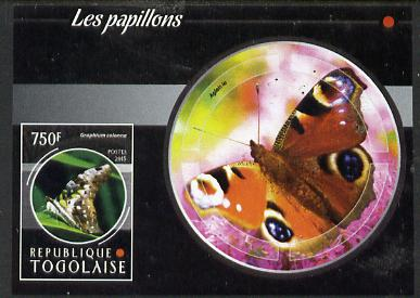 Togo 2015 Butterflies #05 imperf s/sheet unmounted mint. Note this item is privately produced and is offered purely on its thematic appeal