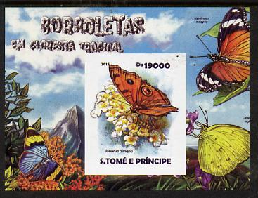 St Thomas & Prince Islands 2015 Butterflies #2 imperf deluxe m/sheet unmounted mint. Note this item is privately produced and is offered purely on its thematic appeal