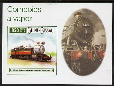 Guinea - Bissau 2015 Steam Trains #8 imperf deluxe sheet unmounted mint. Note this item is privately produced and is offered purely on its thematic appeal