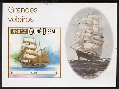 Guinea - Bissau 2015 Sailing  Ships #4 imperf deluxe sheet unmounted mint. Note this item is privately produced and is offered purely on its thematic appeal