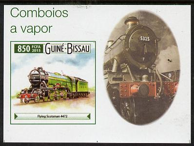 Guinea - Bissau 2015 Steam Trains #5 imperf deluxe sheet unmounted mint. Note this item is privately produced and is offered purely on its thematic appeal