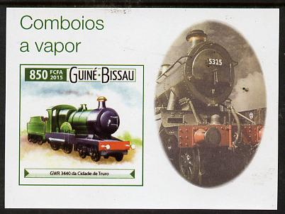 Guinea - Bissau 2015 Steam Trains #6 imperf deluxe sheet unmounted mint. Note this item is privately produced and is offered purely on its thematic appeal
