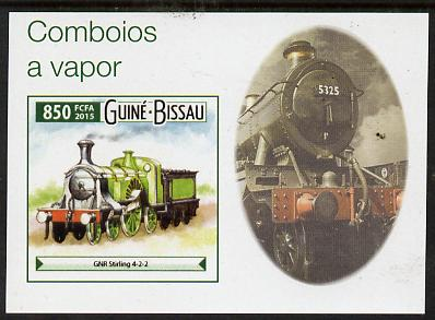 Guinea - Bissau 2015 Steam Trains #7 imperf deluxe sheet unmounted mint. Note this item is privately produced and is offered purely on its thematic appeal