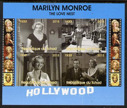 Chad 2015 Marilyn Monroe - The Love Nest imperf sheetlet containing 4 values unmounted mint. Note this item is privately produced and is offered purely on its thematic ap...