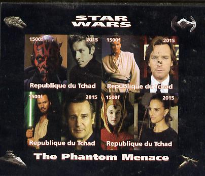 Chad 2015 Star Wars - The Phantom Menace imperf sheetlet containing 4 values unmounted mint. Note this item is privately produced and is offered purely on its thematic appeal. .