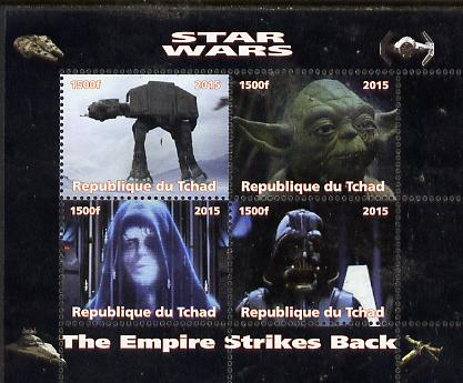 Chad 2015 Star Wars - The Empire Strikes Back perf sheetlet containing 4 values unmounted mint. Note this item is privately produced and is offered purely on its thematic...