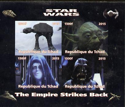 Chad 2015 Star Wars - The Empire Strikes Back imperf sheetlet containing 4 values unmounted mint. Note this item is privately produced and is offered purely on its thematic appeal. .