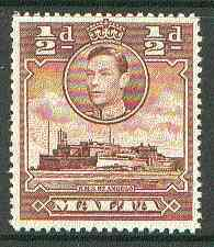 Malta 1938 KG6 HMS St Angelo 1/2d red-brown unmounted mint, SG 218a*