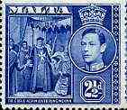 Malta 1938 KG6 De L'Isle Adam Entering Mdina 2.5d blue unmounted mint, SG 222*