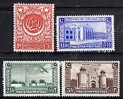 Pakistan 1948 Independence set of 4 unmounted mint, SG 20-23*