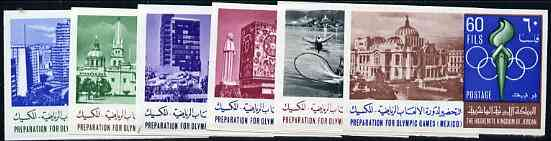 Jordan 1967 Preparation for Olympic Games imperf set of 6 unmounted mint, as SG 797-802*