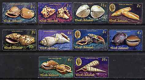 Cook Islands 1974 Shells short set of 10 values (1/2c to 10c) unmounted mint SG 466-75*