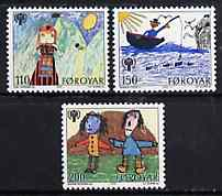Faroe Islands 1979 International Year of The Child set of 3 (Children's Drawings) unmounted mint SG 44-46*
