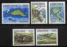 Faroe Islands 1978 Views of Mykines Island set of 5 unmounted mint, SG 30-34*