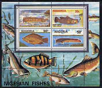 Nigeria 1991 Fishes perf m/sheet unmounted mint, SG MS 616