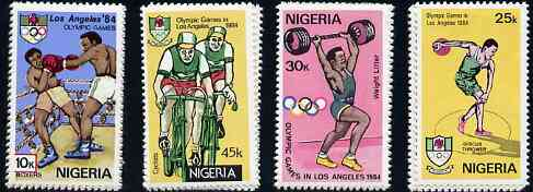 Nigeria 1984 Los Angeles Olympic Games set of 4 unmounted mint, SG 476-79*