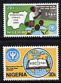 Nigeria 1990 Literacy Year set of 2 SG 593-94 unmounted mint*