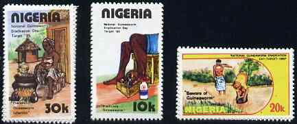 Nigeria 1991 National Guineaworm Eradication Day set of 3 unmounted mint, SG 604-06*