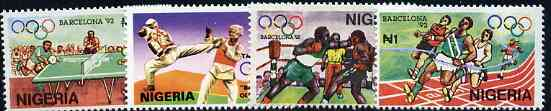 Nigeria 1992 Barcelona Olympic Games (1st issue) set of 4 unmounted mint, SG 619-22*