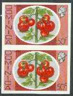 Dominica 1975-78 Tomatoes 50c imperforate pair unmounted mint, as SG 503