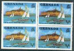 Grenada 1975 Yachts 1/2c unmounted mint imperforate pair plus normal pair (as SG 649)