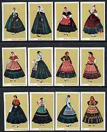 Match Box Labels - complete set of 12 Portuguese Costumes (set 4 - olive background) superb unused condition (Portuguese)