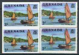 Grenada 1975 Working Boats 3c unmounted mint imperforate pair plus normal pair (as SG 652)