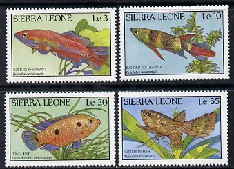 Sierra Leone 1988 Fishes set of 4 unmounted mint, SG 1126-29