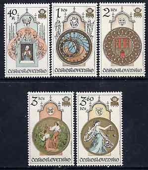 Czechoslovakia 1978 'Praga 78' Stamp Exhibition (9th series - Astronomical Clock) set of 5 unmounted mint, SG 2413-17. Mi 2451-55