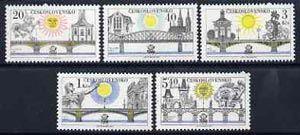 Czechoslovakia 1978 'Praga 78' Stamp Exhibition (8th series - Bridges) set of 6 unmounted mint, SG 2407-12, Mi 2445-50