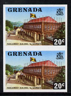 Grenada 1975 Parliament Building 20c unmounted mint imperforate pair (as SG 659)