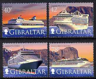 Gibraltar 2008 Cruise Ships - 4th series perf set of 4 unmounted mint SG 1286-89