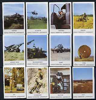 Match Box Labels - complete set of 12 Military very fine unused condition (Landmacht series)