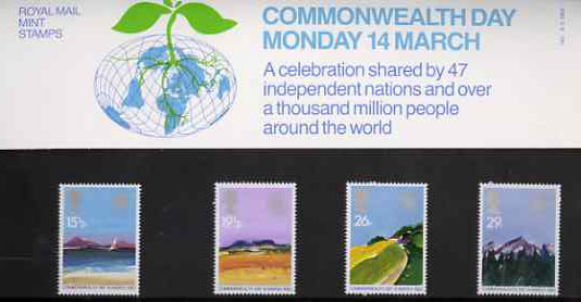 Great Britain 1983 Commonwealth Day (Geographical Regions) set of 4 in official presentation pack SG 1211-14