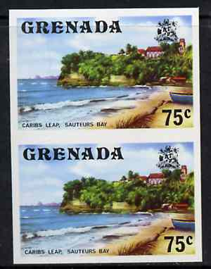 Grenada 1975 Sauteurs Bay 75c unmounted mint imperforate pair (as SG 663)