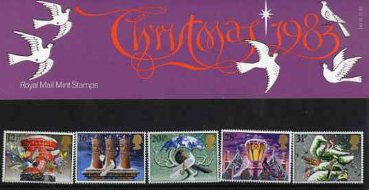 Great Britain 1983 Christmas set of 5 in official presentation pack SG 1231-35