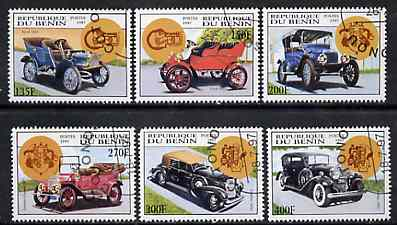 Benin 1997 Vintage Cars complete set of 6 values cto used, SG 1645-50